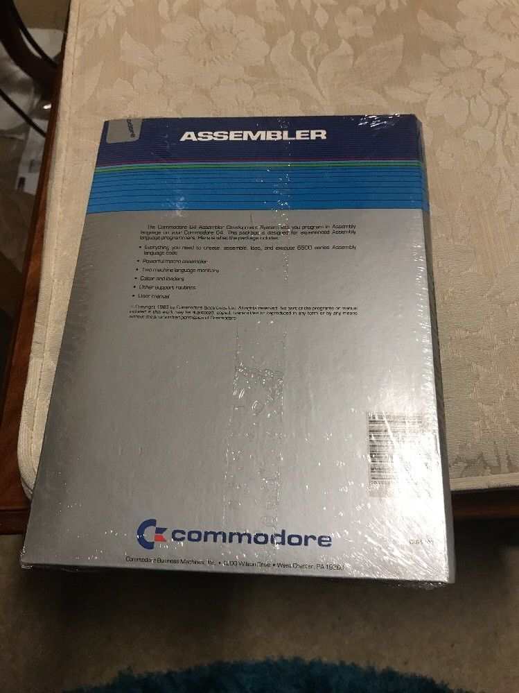 Commodore 64 assembler on floppy new old stock