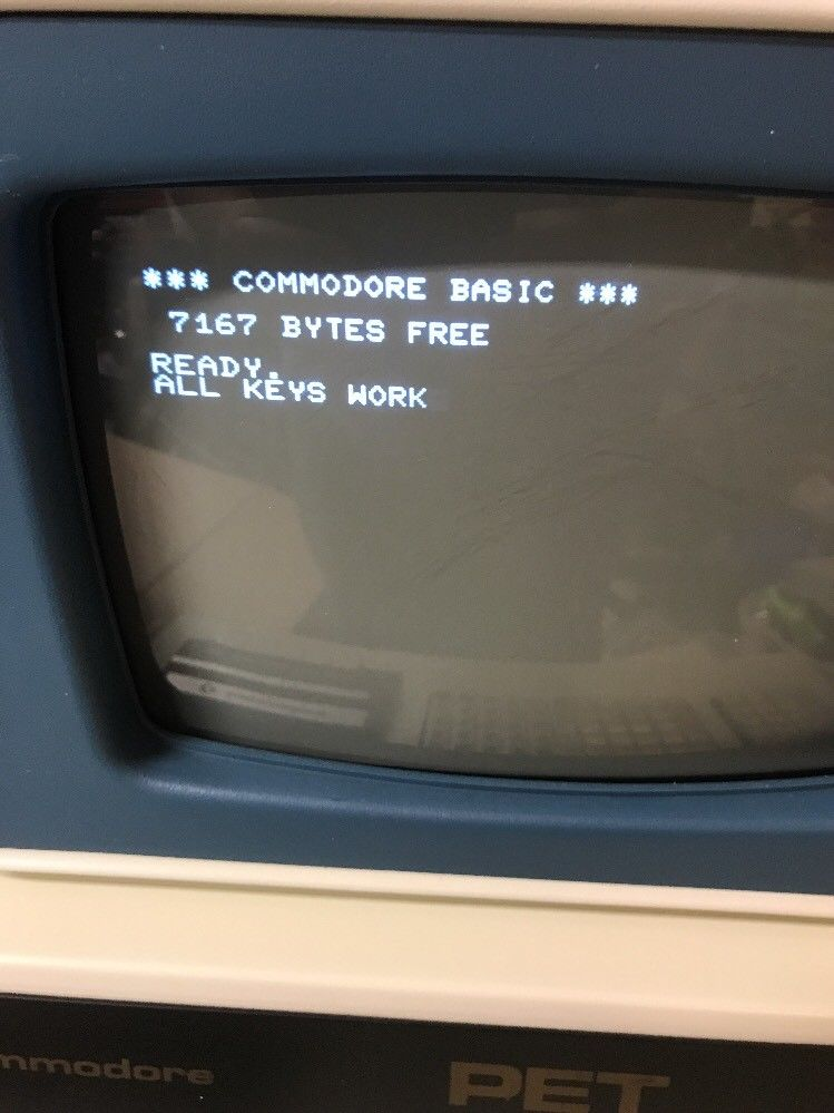 RARE! Commodore blue screened chicklet PET