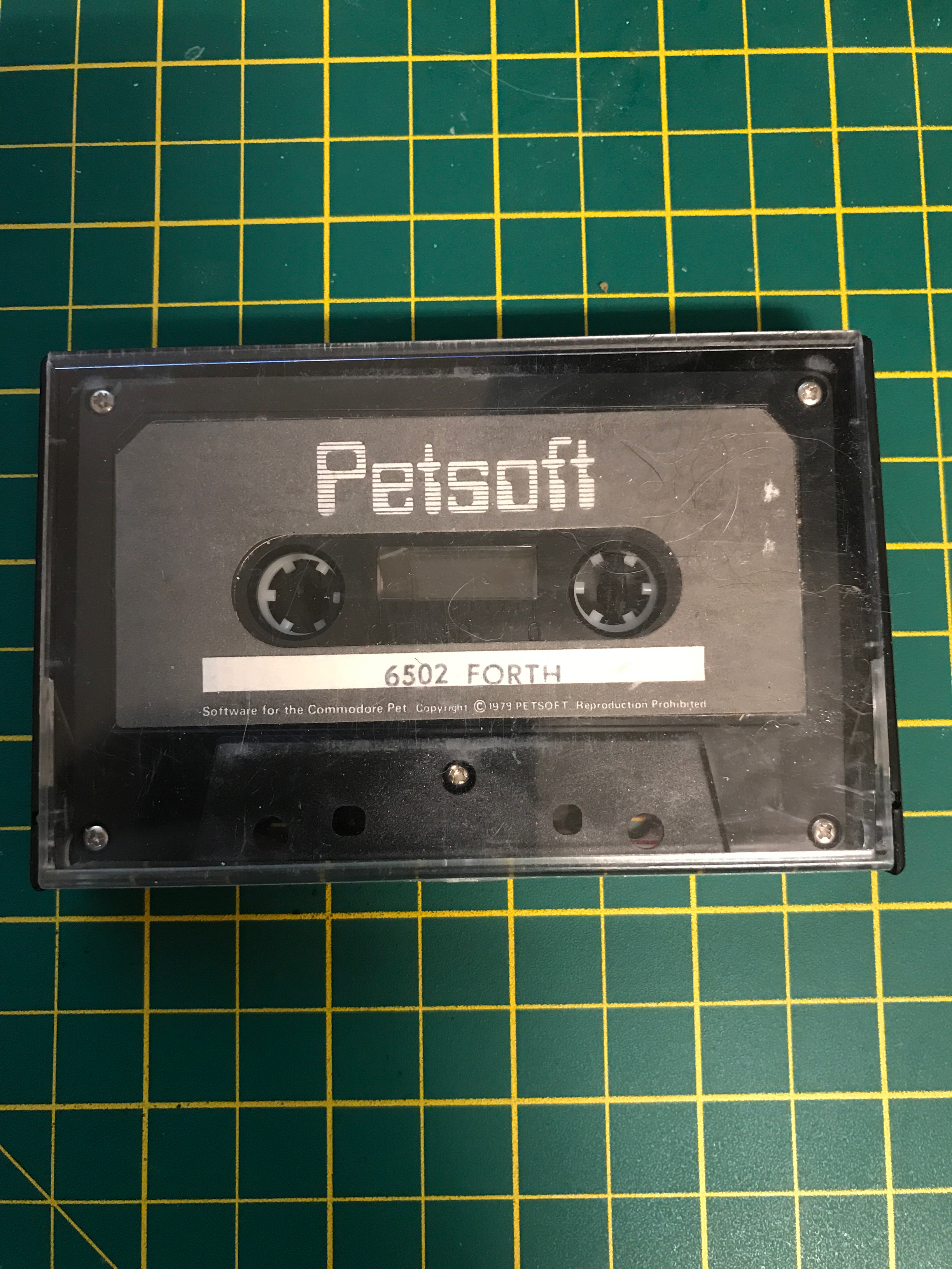 Original 1979 commodore pet tape software PET FORTH